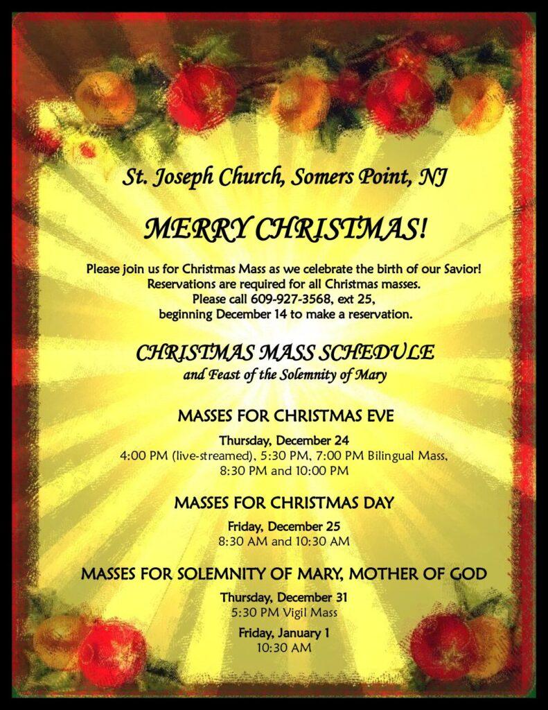 Christmas Mass Schedule