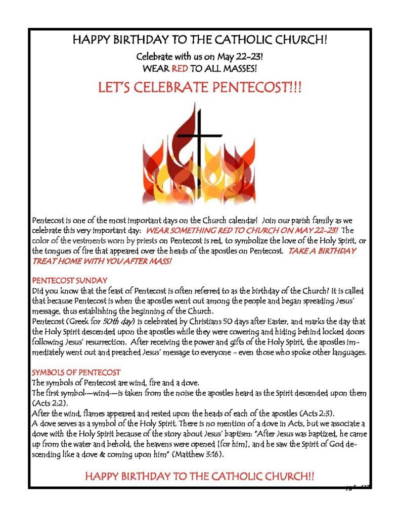 Let's Celebrate Pentecost!